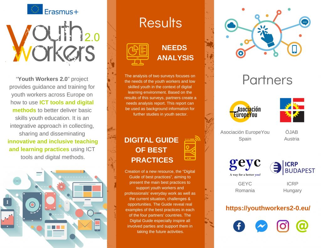 YW2 0 leaflet is ONline | Youth Workers 2 0